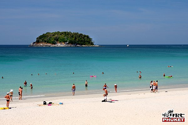 Kata Beach with Koh Pu Island
